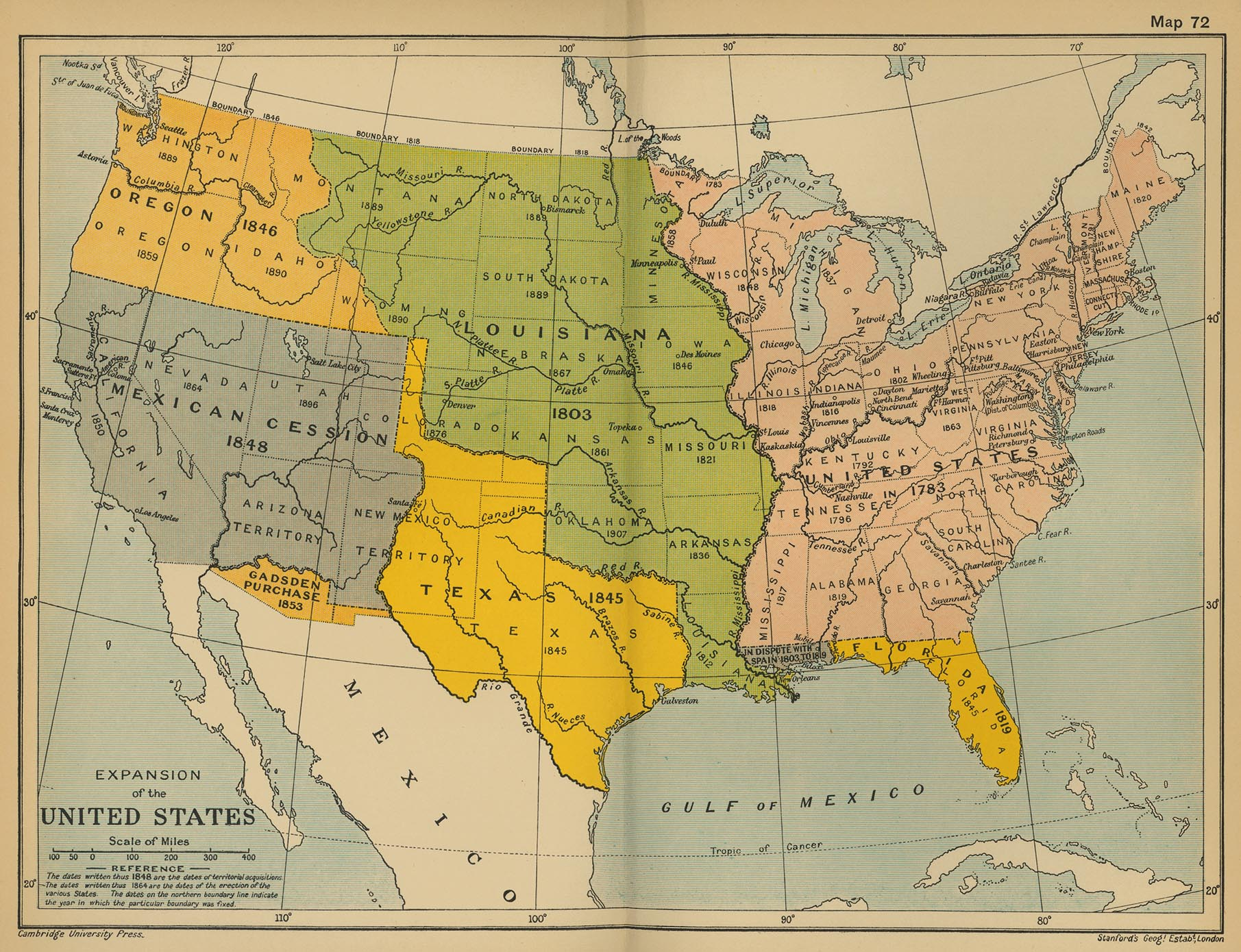 Zoom In Lessons - Map of united states during reconstruction